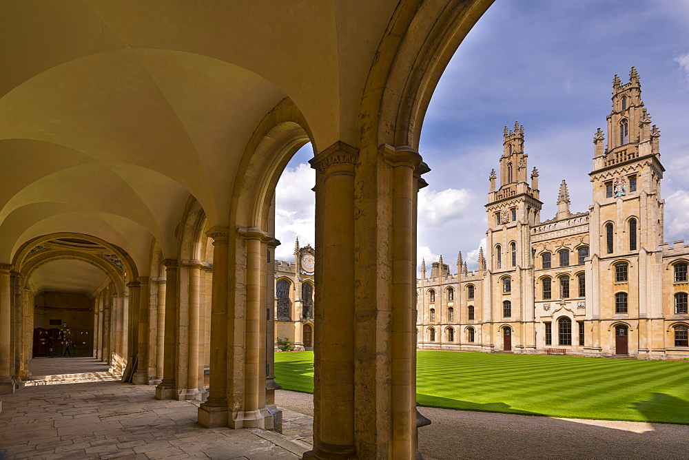 Historic All Souls College in Oxford, Oxfordshire, England, United Kingdom, Europe