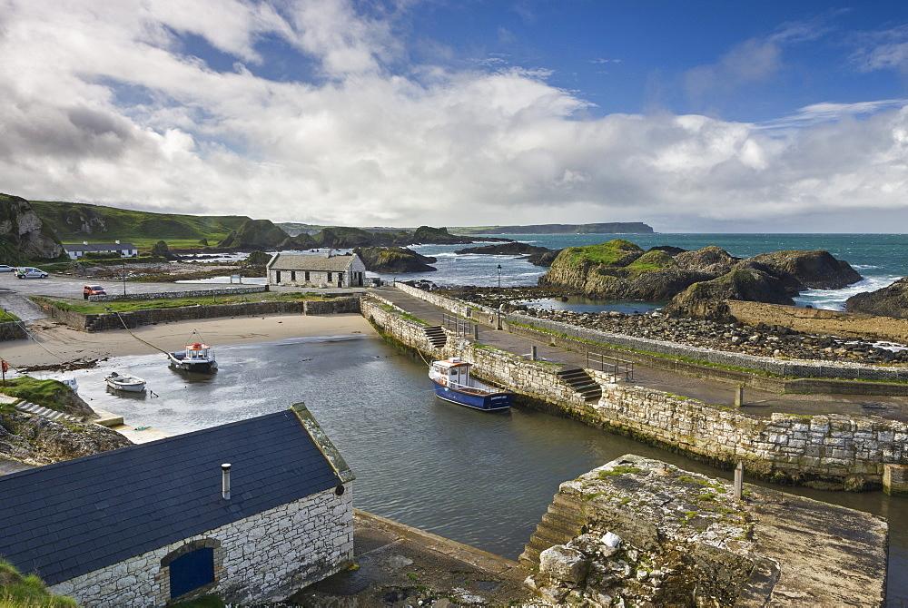 Beautiful Ballintoy Harbour on the Causeway Coast, County Antrim, Ulster, Northern Ireland, United Kingdom, Europe
