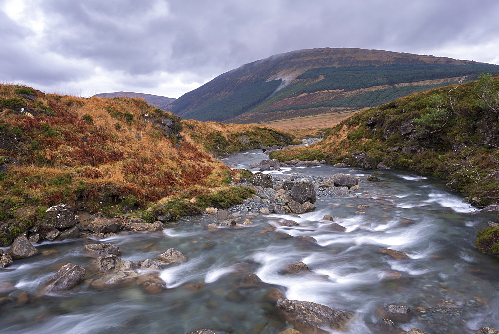 River Brittle running through the Fairy Pools in Glen Brittle on the Isle of Skye, Inner Hebrides, Scotland, United Kingdom, Europe