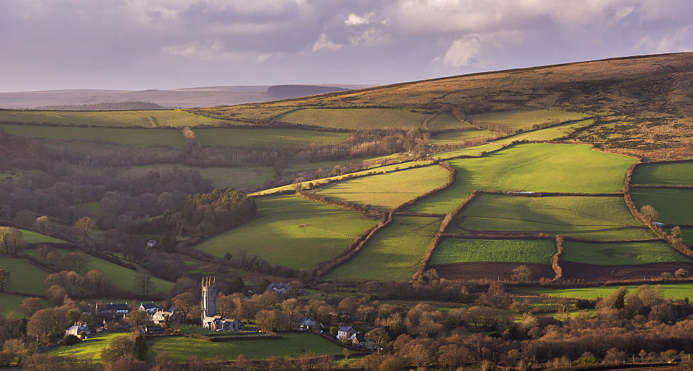 The picturesque village of Widecombe-in-the-Moor, Dartmoor National Park, Devon, England, United Kingdom, Europe