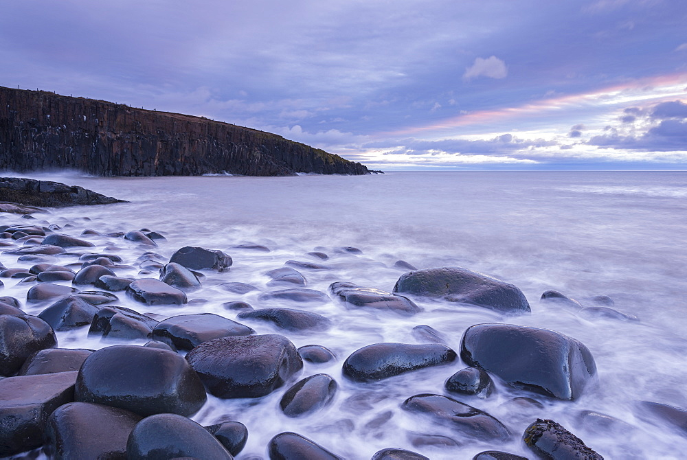 Grey dawn sky above Cullernose Point on the Northumbrian coast, Northumberland, England, United Kingdom, Europe - 799-3445