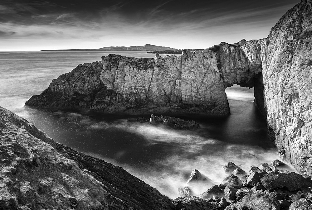 The White Arch at Rhoscolyn on the Isle of Anglesey, North Wales, United Kingdom, Europe