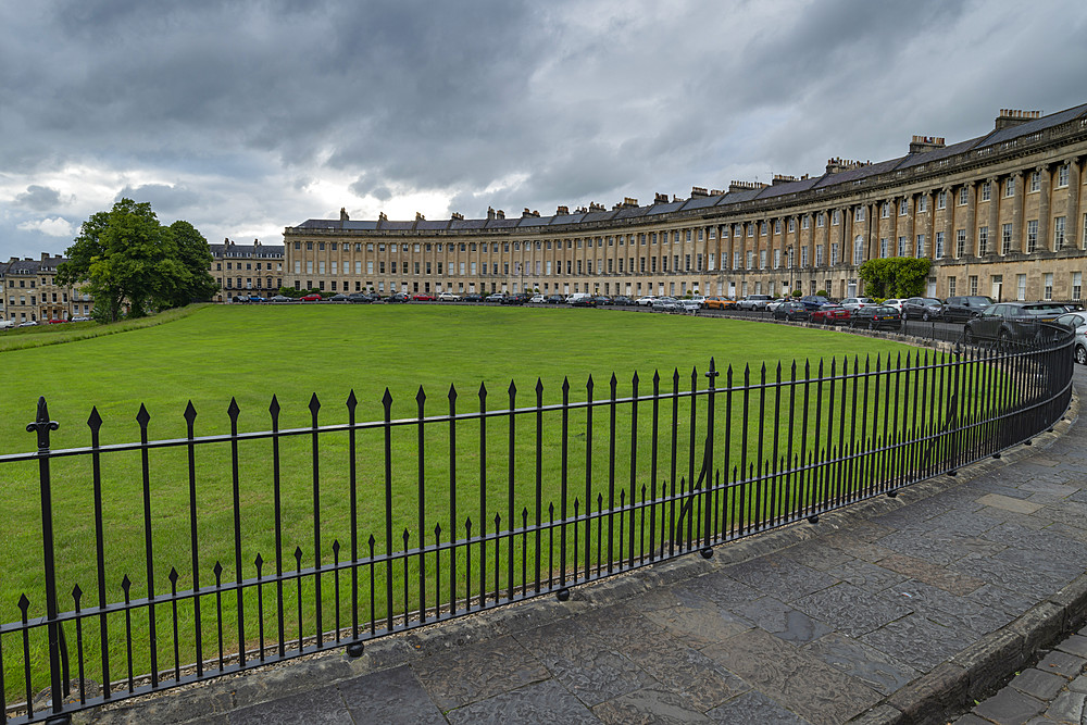 The Royal Crescent, Bath, UNESCO World Heritage Site, Somerset, England, United Kingdom, Europe