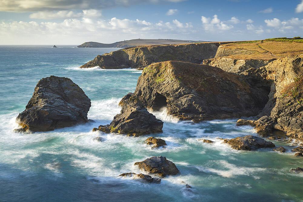 Dramatic coastal scenery near Trevose Head on the North Cornish coast, Cornwall, England, United Kingdom, Europe - 799-3879