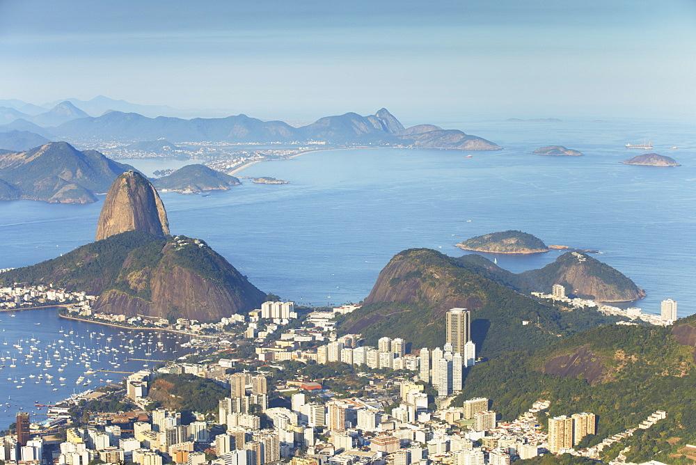 View of Sugar Loaf Mountain (Pao de Acucar) and Botafogo Bay, Rio de Janeiro, Brazil, South America  - 800-1272