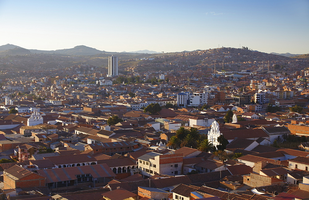 View of Sucre, UNESCO World Heritage Site, Bolivia, South America