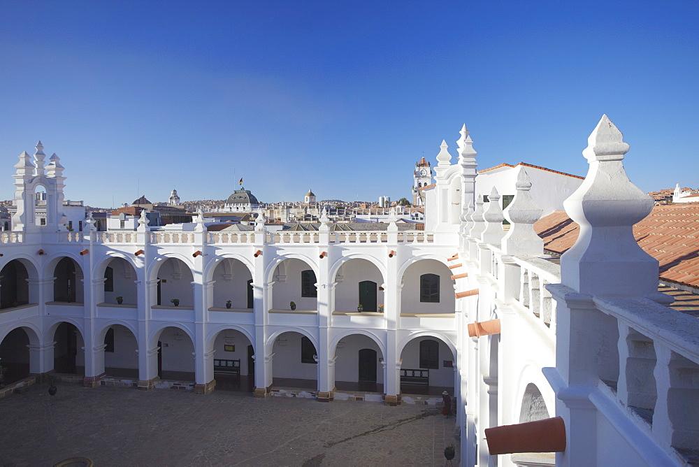 Courtyard of Convento de San Felipe Neri, Sucre, UNESCO World Heritage Site, Bolivia, South America