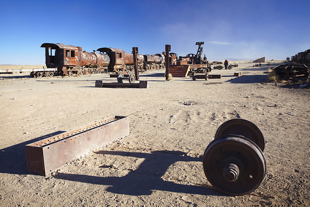 Cemeterio de Trenes (Train Cemetery), Uyuni, Potosi Department, Bolivia, South America