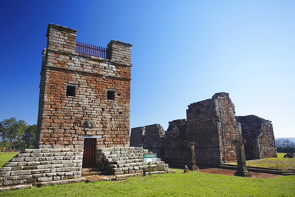 Ruins of Jesuit mission at Trinidad (La Santisima Trinidad de Parana), UNESCO World Heritage Site, Parana Plateau, Paraguay, South America
