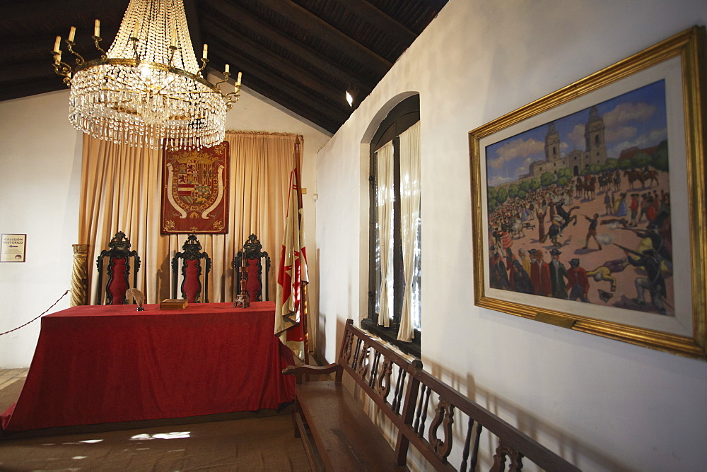 Interior of Casa de la Independencia (House of Independence), Asuncion, Paraguay, South America