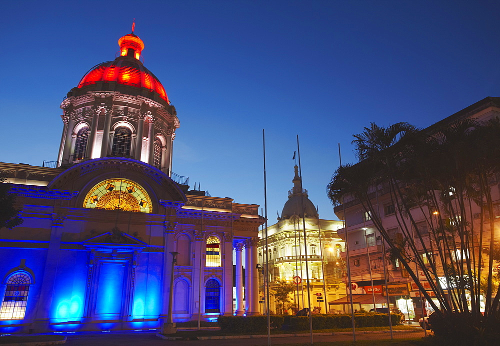 Panteon de los Heroes at dusk, Asuncion, Paraguay, South America