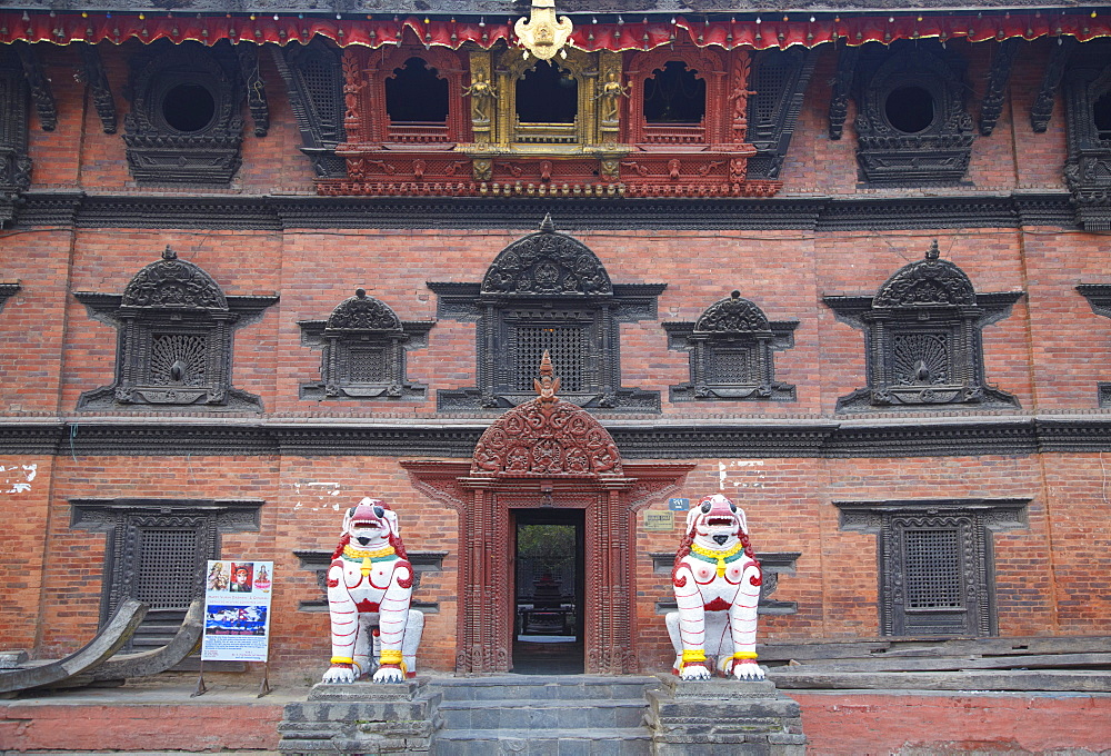 Entrance of Kumari Bahal, Durbar Square, UNESCO World Heritage Site, Kathmandu, Nepal, Asia