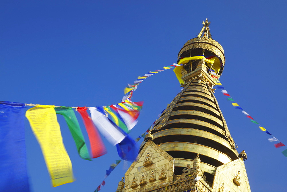 Swayambhunath Stupa, UNESCO World Heritage Site, Kathmandu, Nepal, Asia