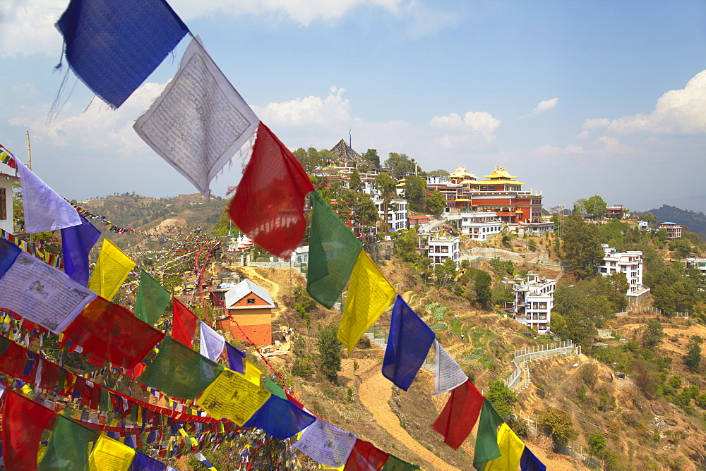 Thrangu Tashi Yangtse Monastery inside Namobuddha complex, Dhulikhel, Kathmandu Valley, Nepal, Asia