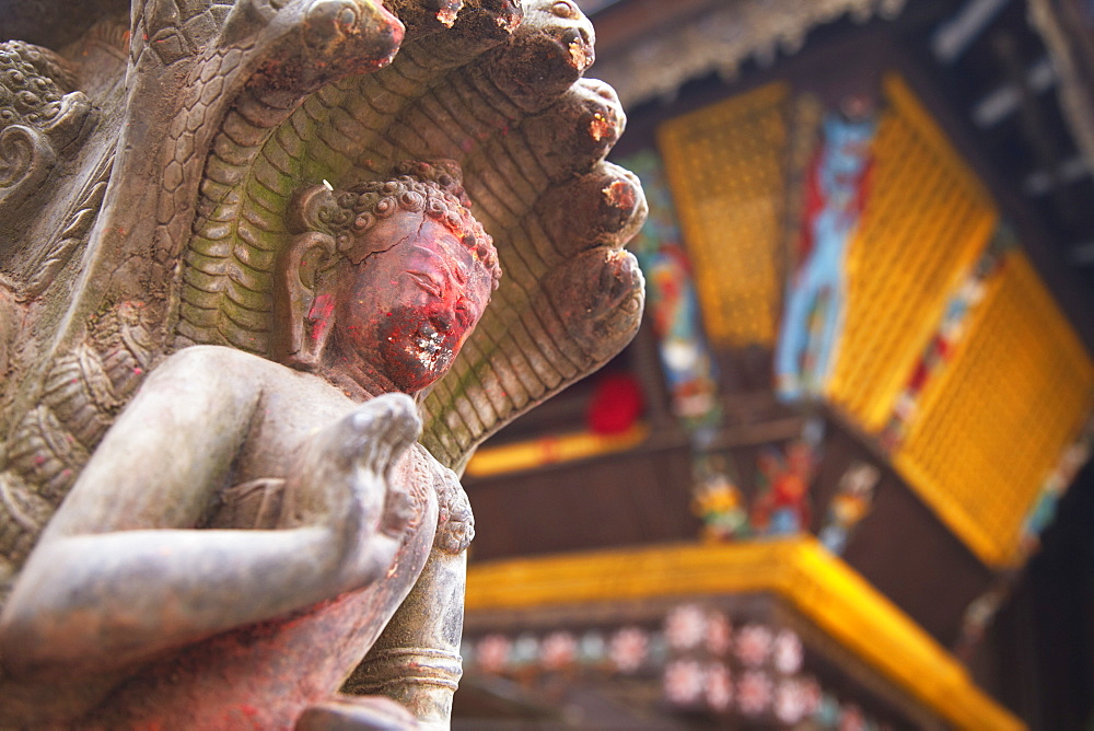 Statue at Bhimsen Temple, Kathmandu, Nepal, Asia