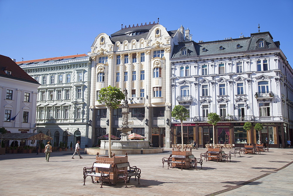 Hlavne Nam (Main Square), Bratislava, Slovakia, Europe