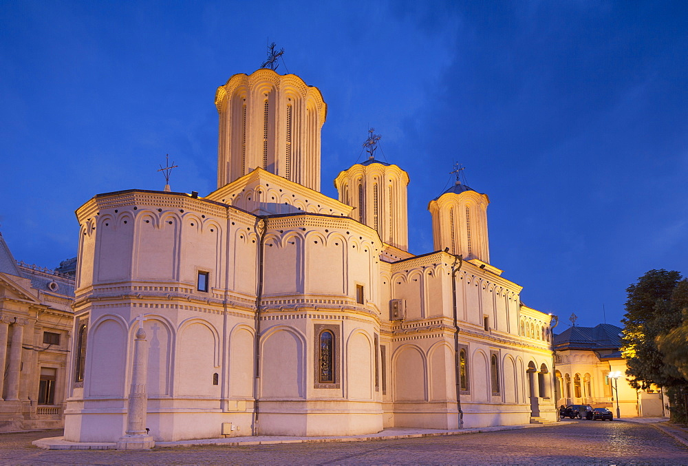 Patriarchal Cathedral at dusk, Bucharest, Romania, Europe
