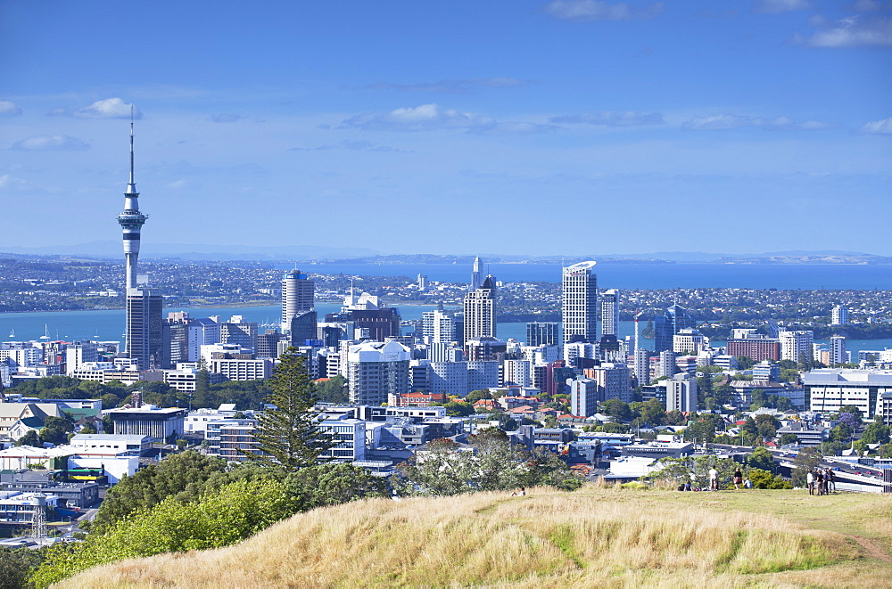View of Auckland from Mount Eden, Auckland, North Island, New Zealand, Pacific