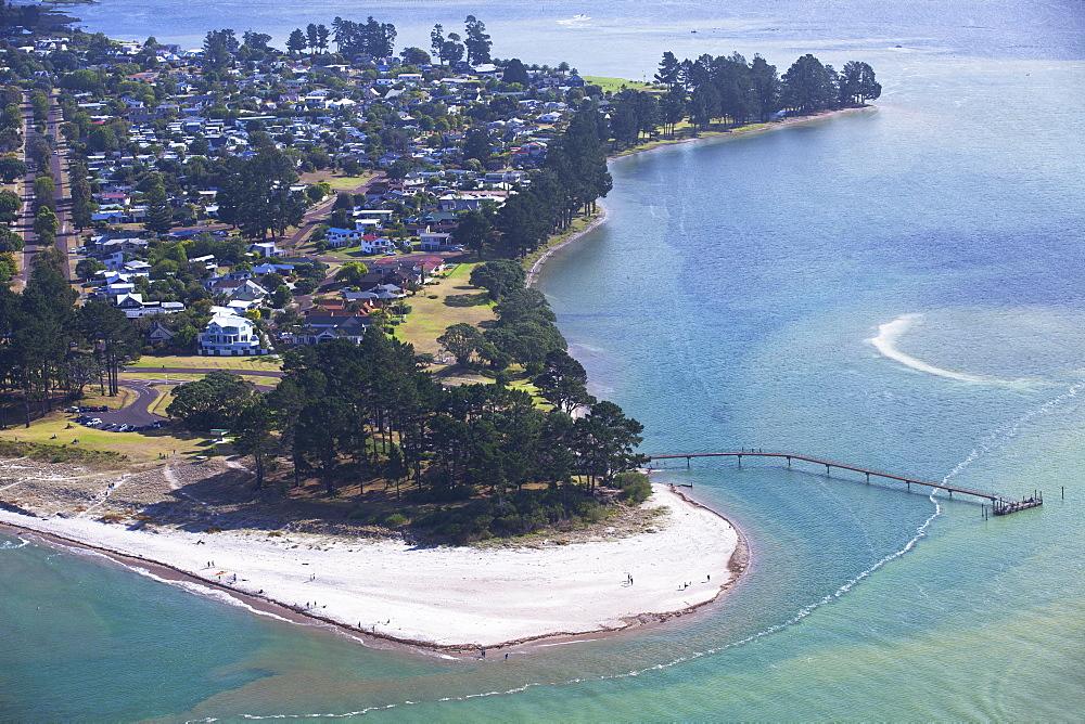 View of Pauanui, Tairua, Coromandel Peninsula, Waikato, North Island, New Zealand, Pacific