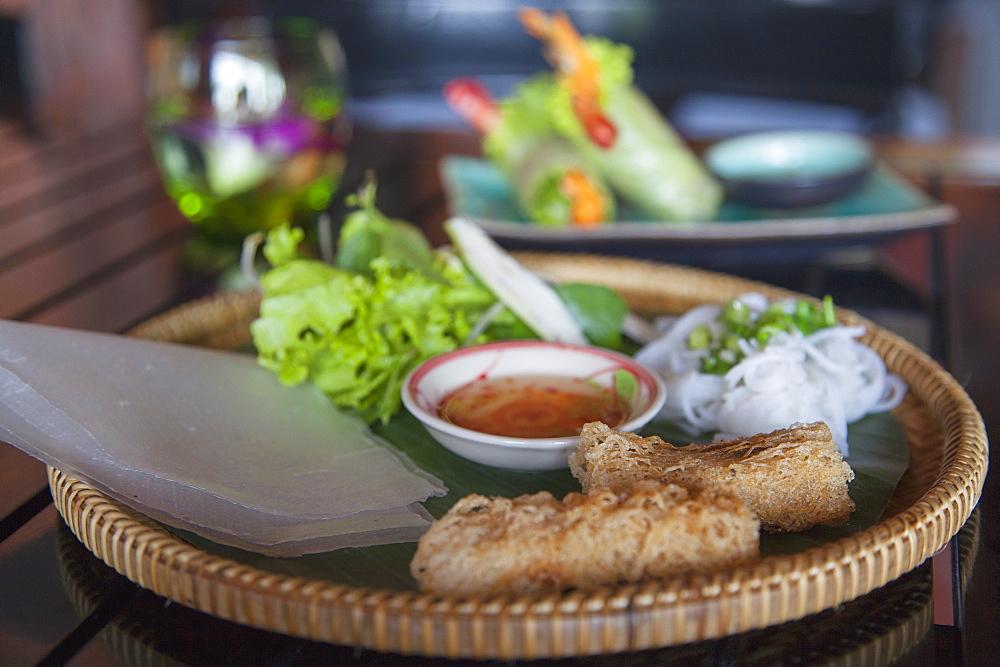 Crispy spring rolls, Da Nang, Vietnam, Indochina, Southeast Asia, Asia