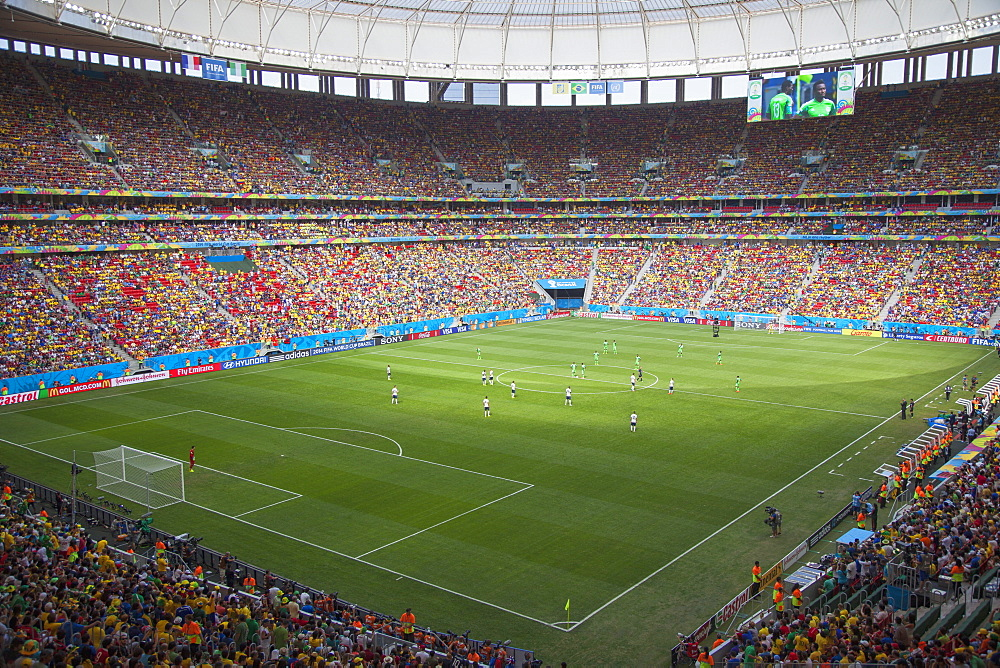 World Cup football match in National Mane Garrincha Stadium, Brasilia, Federal District, Brazil, South America