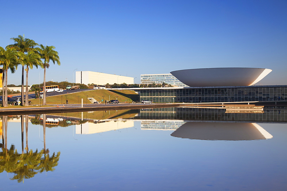 National Congress, UNESCO World Heritage Site, Brasilia, Federal District, Brazil, South America
