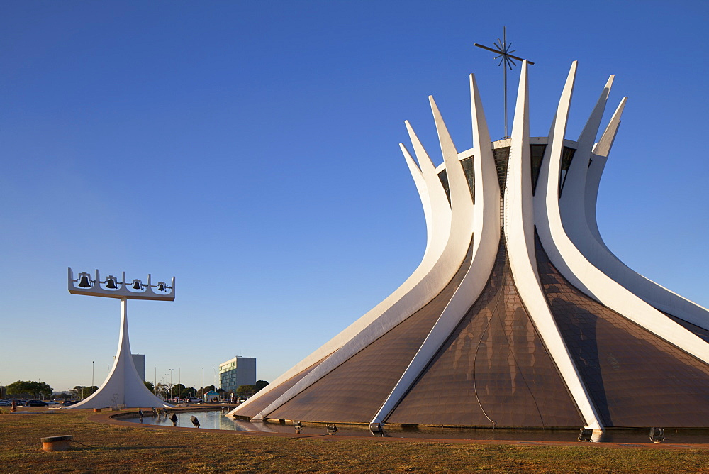 Metropolitan Cathedral, UNESCO World Heritage Site, Brasilia, Federal District, Brazil, South America - 800-2228