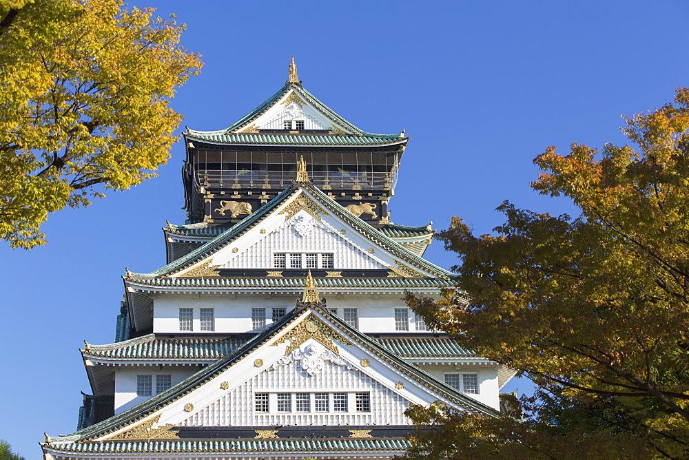 Osaka Castle, Osaka, Kansai, Japan, Asia