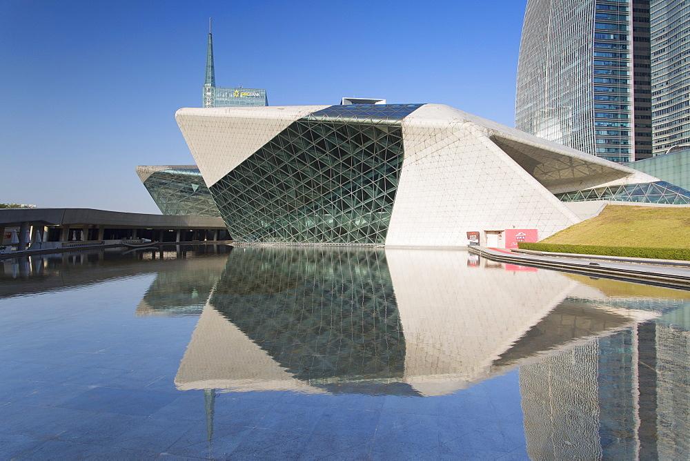 Guangzhou Opera House in Zhujiang New Town, Tian He, Guangzhou, Guangdong, China, Asia