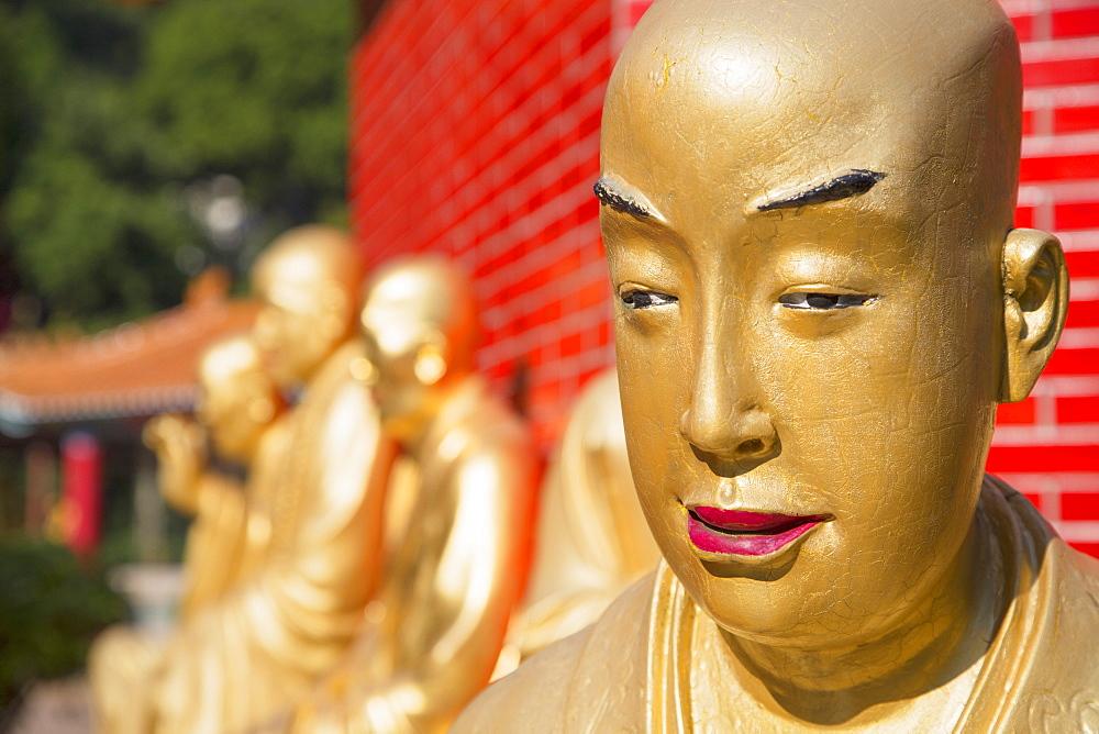 Buddha statues at Ten Thousand Buddhas Monastery, Shatin, New Territories, Hong Kong, China, Asia