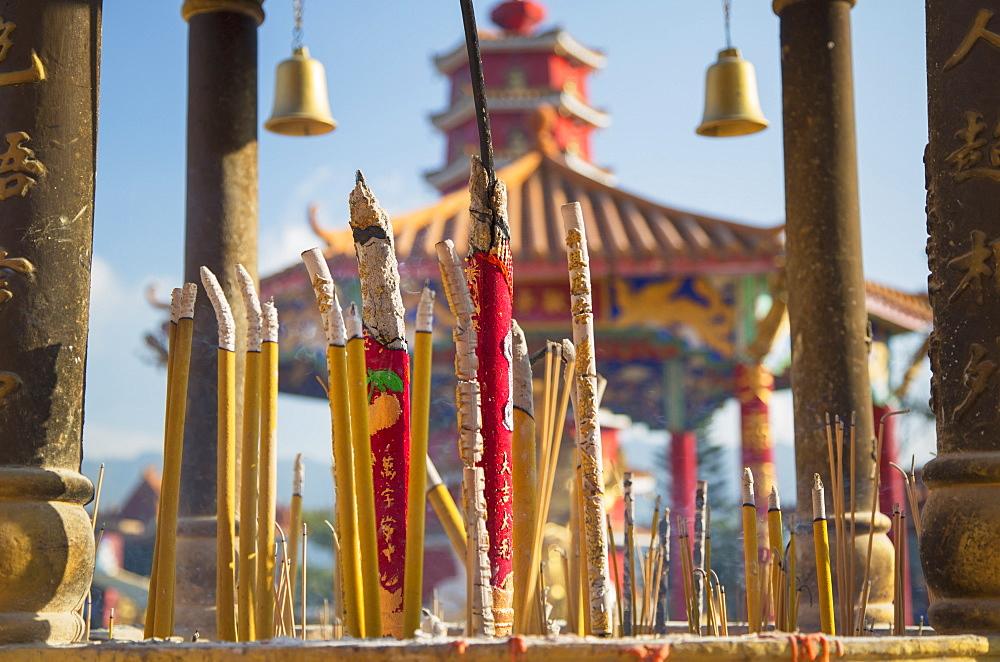 Incense sticks at Ten Thousand Buddhas Monastery, Shatin, New Territories, Hong Kong, China, Asia