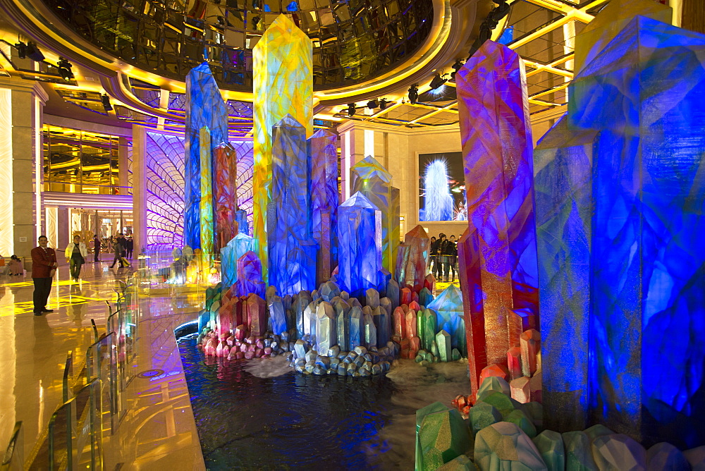 Crystal Lobby in Galaxy Hotel, Taipa, Macau, China, Asia