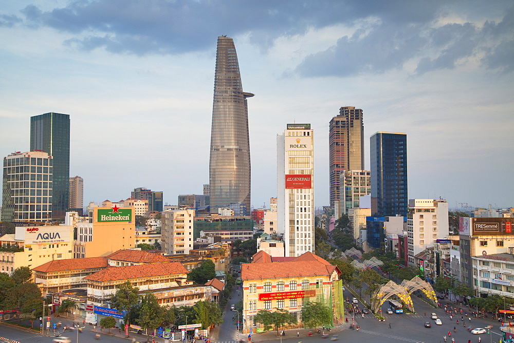 View of Bitexco Financial Tower and city skyline, Ho Chi Minh City, Vietnam, Indochina, Southeast Asia, Asia