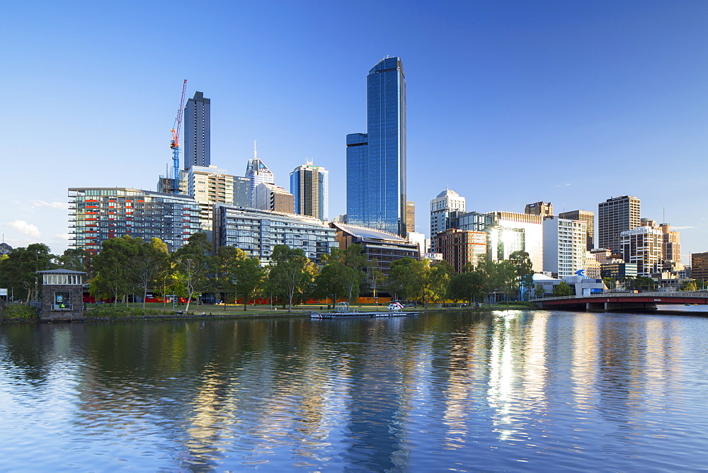 Rialto Towers and skyline along Yarra River, Melbourne, Victoria, Australia, Pacific