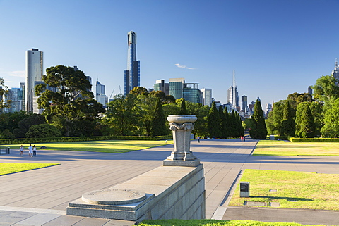 Skyline from Shrine of Remembrance, Melbourne, Victoria, Australia, Pacific