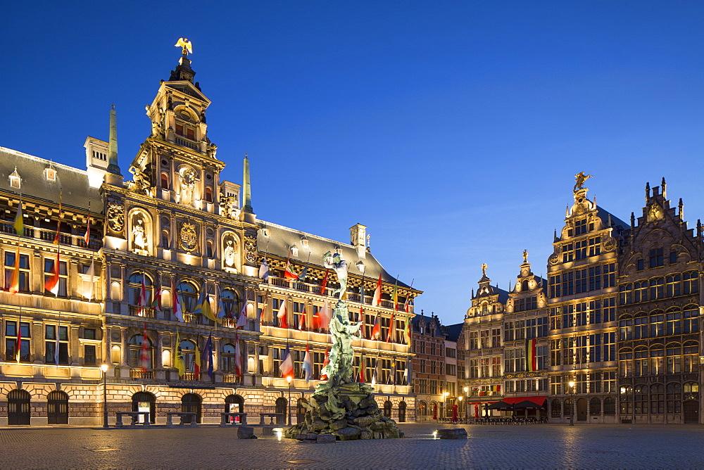 Town Hall (Stadhuis) in Main Market Square, Antwerp, Flanders, Belgium, Europe