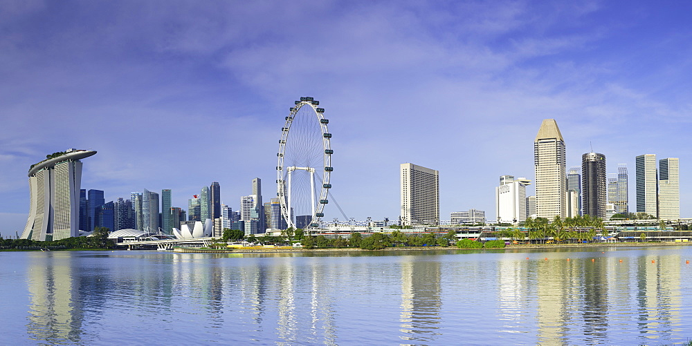View of Singapore Flyer, Gardens by the Bay and Marina Bay Sands Hotel, Singapore - 800-3033