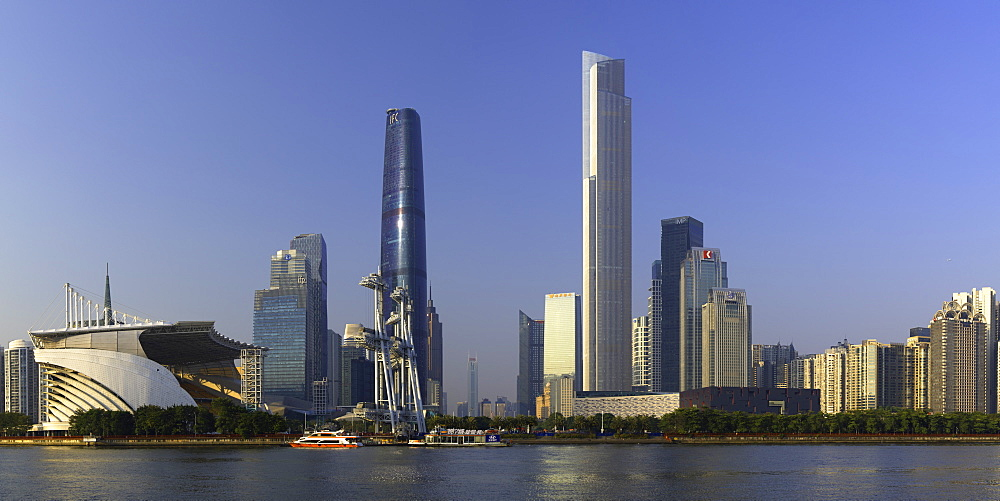 Skyline of Tianhe, Guangzhou, Guangdong, China, Asia