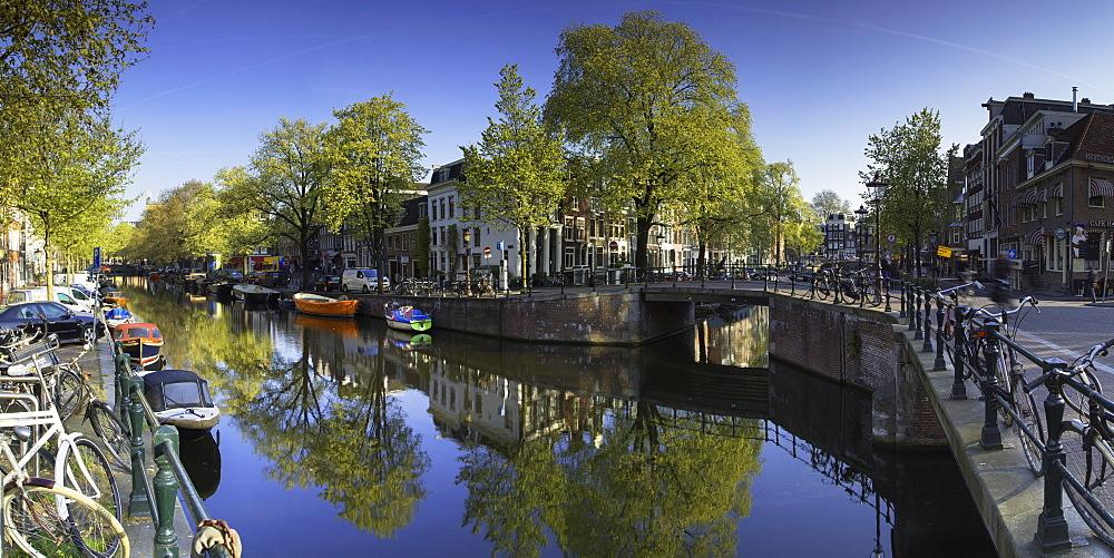 Lijnbaansgracht Canal, Amsterdam, Netherlands, Europe