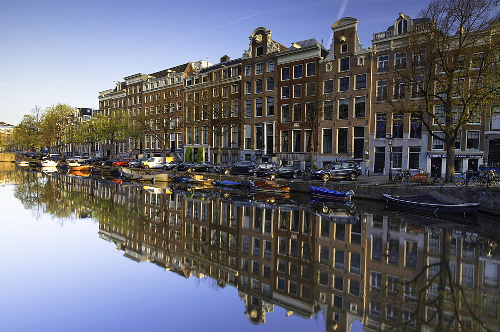 Keizersgracht canal at dawn, Amsterdam, Netherlands, Europe