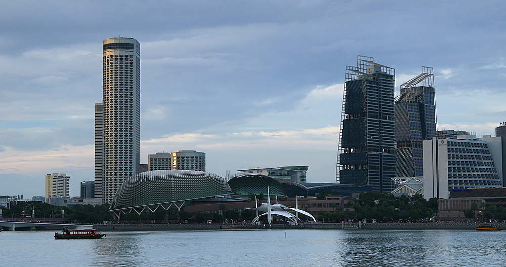 Boats in Marina Bay, Singapore, Southeast Asia, Asia