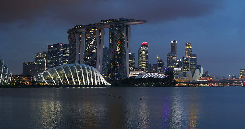 Marina Bay Sands Hotel and Gardens by the Bay, Singapore, Southeast Asia, Asia - 800-3059