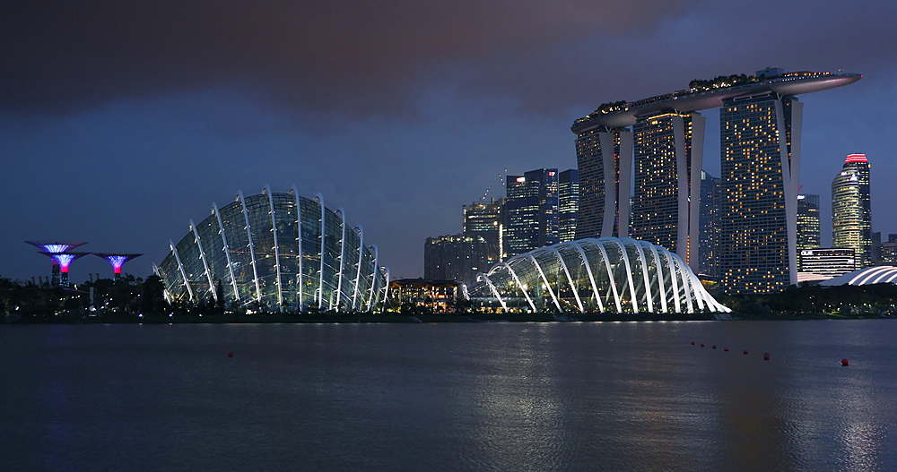 Marina Bay Sands Hotel and Gardens by the Bay, Singapore, Southeast Asia, Asia