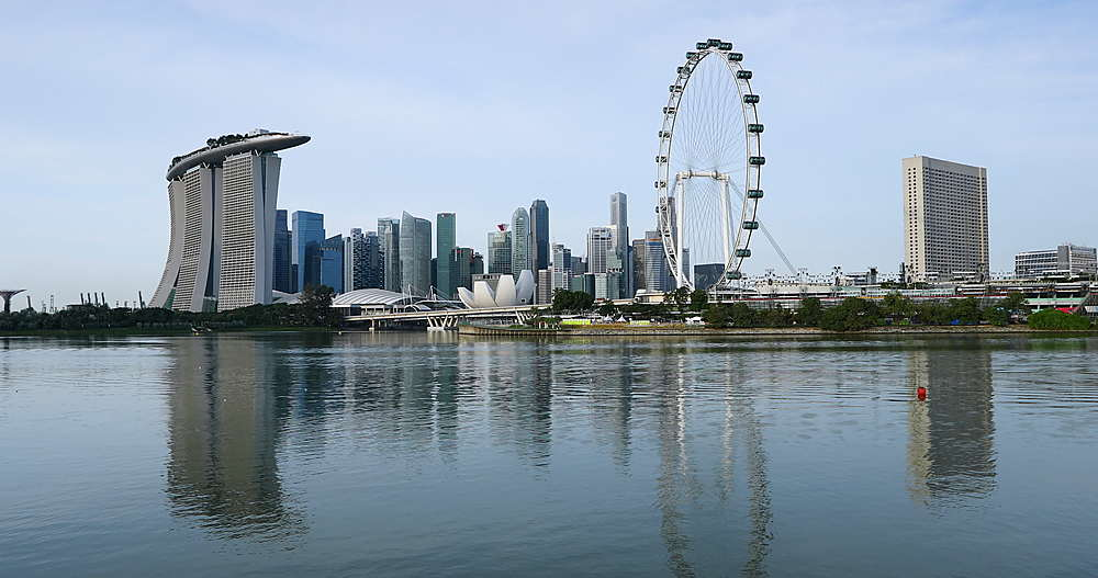 Marina Bay Sands Hotel and Singapore Flyer, Singapore, Southeast Asia, Asia - 800-3066