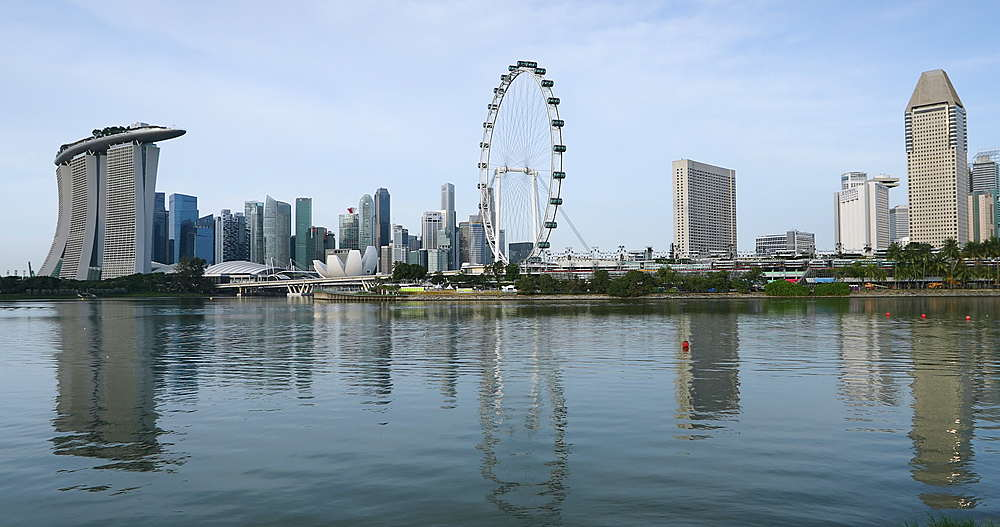 Marina Bay Sands Hotel and Singapore Flyer, Singapore, Southeast Asia, Asia - 800-3067