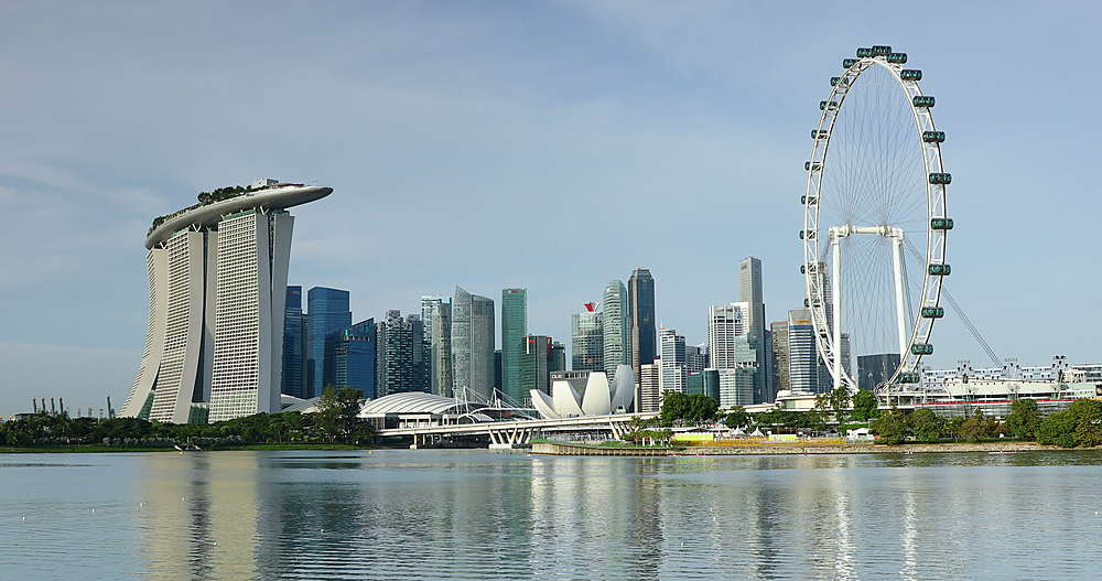 Marina Bay Sands Hotel and Singapore Flyer, Singapore, Southeast Asia, Asia - 800-3069