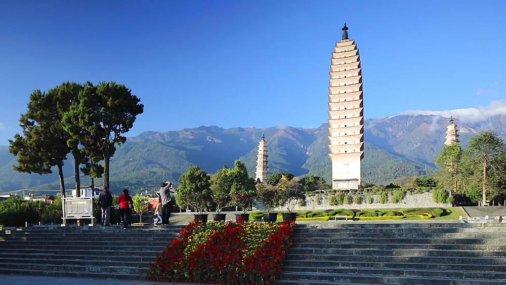 Three Pagodas, Dali, Yunnan, China, Asia