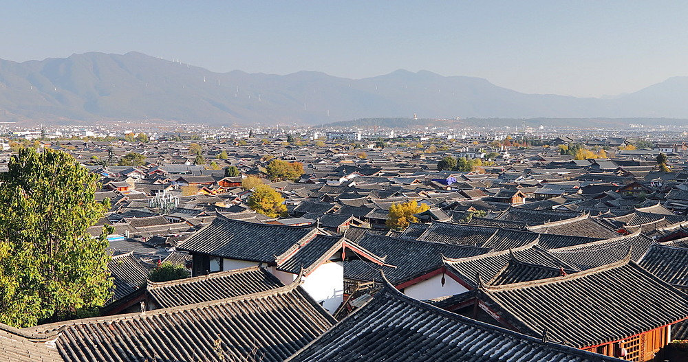 View of rooftops of Lijiang, Yunnan, China, Asia - 800-3095