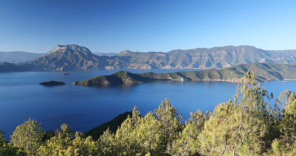 View of Lugu Lake, Yunnan, China, Asia