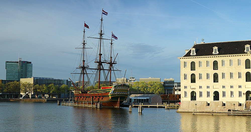VOC ship and National Maritime Museum, Amsterdam, Netherlands - 800-3163